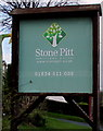 SN1107 : Stone Pitt Holiday Park name sign, Begelly by Jaggery