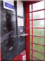 SN1107 : Inside a former phonebox, Begelly by Jaggery