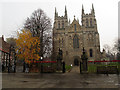 SE6132 : Approach to Selby Abbey from the market square by Stephen Craven