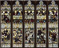 SK9136 : St Wulfram, Grantham - Stained glass window detail by John Salmon