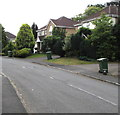 ST2281 : Wheelie bins, Hastings Crescent, Old St Mellons, Cardiff by Jaggery