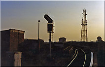 TQ2182 : Willesden Junction (High Level), evening scene 1994 by Ben Brooksbank