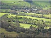 SO7641 : Farmland below the Malvern Hills by Philip Halling