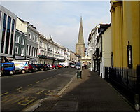 SO5040 : Broad Street Hereford between a church and a spire by Jaggery