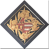 SE5971 : All Saints, Brandsby - Hatchment by John Salmon