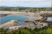 SW5130 : St Michael's Mount Harbour and causeway by Ian Capper