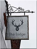 SO8171 : The Lodge (2) - sign, Baldwin House, Lombard Street, Stourport-on-Severn by P L Chadwick