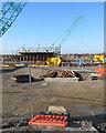TL5478 : Ely: bypass bridge building site by John Sutton