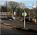 ST1380 : Radyr railway station name sign, Station Road, Radyr, Cardiff by Jaggery