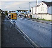 ST3090 : Warning of a Malpas Road lane closure ahead, Newport by Jaggery