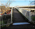 ST3089 : Across a Malpas Road footbridge, Crindau, Newport by Jaggery