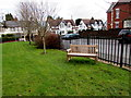 ST1380 : Memorial bench in a Radyr churchyard, Cardiff by Jaggery