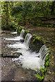 SX4168 : Mill pond weir by Ian Capper