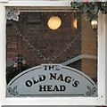 SJ8398 : Old Nag's Head: Etched window by Gerald England
