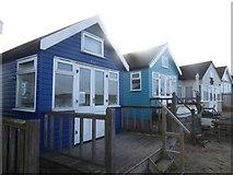 SZ1891 : Beach huts, Hengistbury Head by David Smith