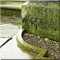 SJ9173 : Bench mark and bolt, Christ Church Macclesfield by Alan Murray-Rust