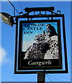 SJ3057 : Ye Olde Castle Inn name sign, Caergwrle, Flintshire by Jaggery