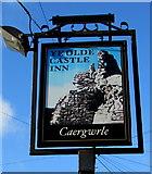SJ3057 : Ye Olde Castle Inn name sign, Caergwrle, Flintshire by Jaggery