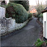 SJ3057 : Lane on the west side of High Street, Caergwrle, Flintshire by Jaggery