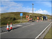 SH7783 : Gt.Orme tramway crossing 1 by Jonathan Wilkins