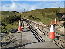 SH7783 : Gt.Orme tramway crossing 2 by Jonathan Wilkins