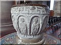 SO5039 : Font in Hereford Cathedral by Philip Halling