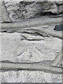 SH7977 : Bench mark in Conway Road, Llandudno Junction by John S Turner