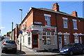 SK6004 : Halal butchers at Egginton Street / Cork Street junction by Roger Templeman
