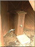TL1344 : Village pump in shelter by Jeff Tomlinson