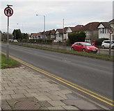 ST3091 : No U-turns signs, Malpas Road, Newport by Jaggery