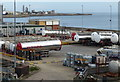 NZ4155 : Oil depot at the Sunderland Docks by Mat Fascione