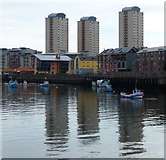 NZ4057 : Tower blocks and the River Wear, Sunderland by Mat Fascione