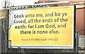 J3674 : Biblical poster, Belfast (February 2018) by Albert Bridge