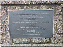NJ9967 : Plaque on the Lifeboat Memorial by Anne Burgess