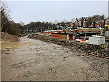 SD8402 : Extension Work at Crumpsall Tram Station (February 2018) by David Dixon