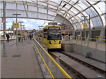 SJ8499 : Airport Tram at Victoria Station by David Dixon