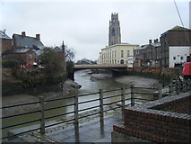 TF3243 : River Witham, Boston by Colin Pyle