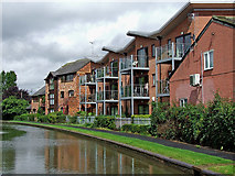 SO8554 : Canalside apartments  in Worcester by Roger  Kidd