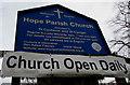 SJ3058 : Hope Parish Church information board, Flintshire by Jaggery
