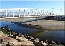 J3731 : The Shimna River at the Promenade footbridge by Eric Jones