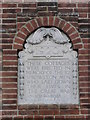 TG2311 : WW1 Memorial plaque on Memorial Cottages, Sprowston by Adrian S Pye