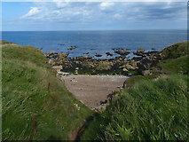 NZ3965 : Small cove on the coast at South Shields by Mat Fascione