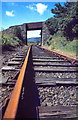 SH7043 : Disused Railway near Llan Ffestiniog by Jeff Buck