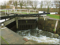 SE3629 : Woodlesford lock emptying (1) by Stephen Craven