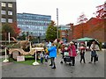 SJ8990 : Dinosaurs in Stockport by Gerald England
