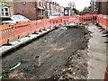 SJ9594 : No footpath on Dowson Road by Gerald England
