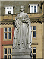 NZ2464 : Statue of Queen Victoria in front of the Royal Victoria Infirmary Administration Block by Mike Quinn