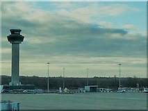 TL5523 : Control tower at London Stansted Airport by Richard Humphrey