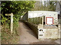 ST7581 : The Cotswold Way by Old Sodbury school by Neil Owen