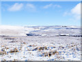 NY9742 : Moorland under snow north of Park Plantation by Trevor Littlewood
